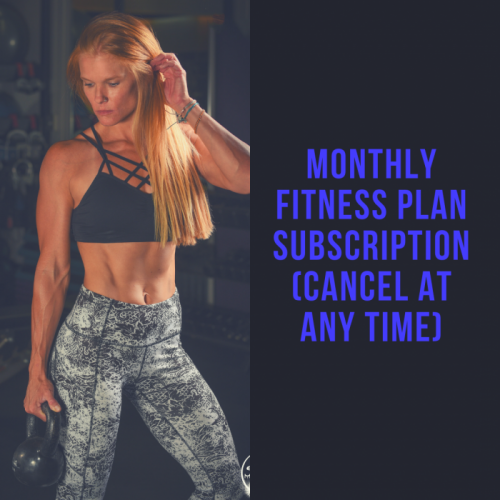 Monthly Fitness Plan Subscription